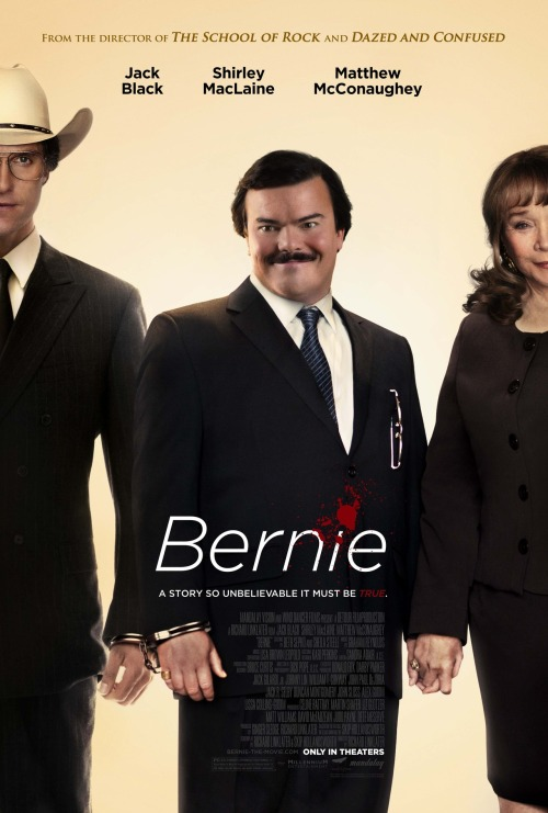 #114 Bernie (2012) Dir. Richard Linklater  Linklater strikes gold with this wonderfully observed and quirky little murder story. Jack Black seems custom fitted for the title role as it plays to all his strengths and as a result he turns in his finest work since School of Rock (perhaps unsurprisingly also directed by Linklater). McConaughey is doing nothing but great stuff recently and his role as a sleazy DA is also fun to watch. I love how Linklater intersperses interviews with real towns-folk in with  the story and the result is a really charming and ghoulishly funny portrait of a tiny little Texas town. A little gem.