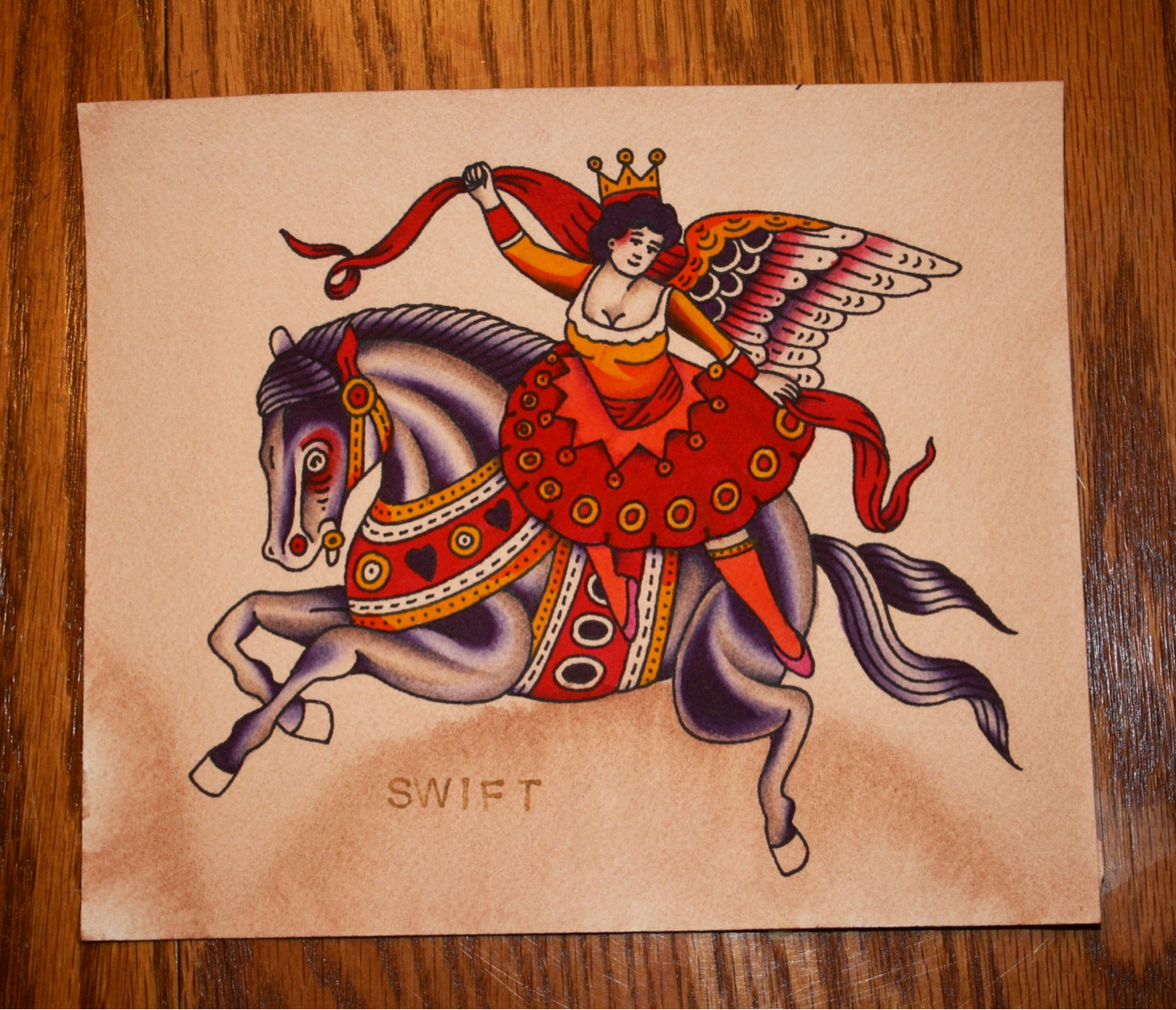 swiftdeathhorseclub:  I finished this little painting this morning. It is FOR SALE.. Email me if you're interested, thank you very much. ShaneThomasSwift@gmail.com