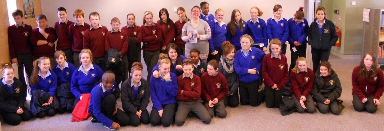 Celine Kiernan in Mullingar Library with 1st years from the Community College & Loreto Check the library catalogue for her books : http://goo.gl/d1Ivi
