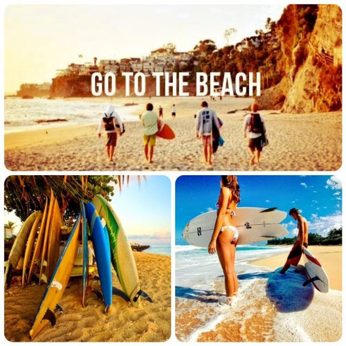 Let's go to the beach.