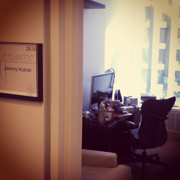 Moving into my new office. Glad to take it over from @mignano! (at Atlantic Records)