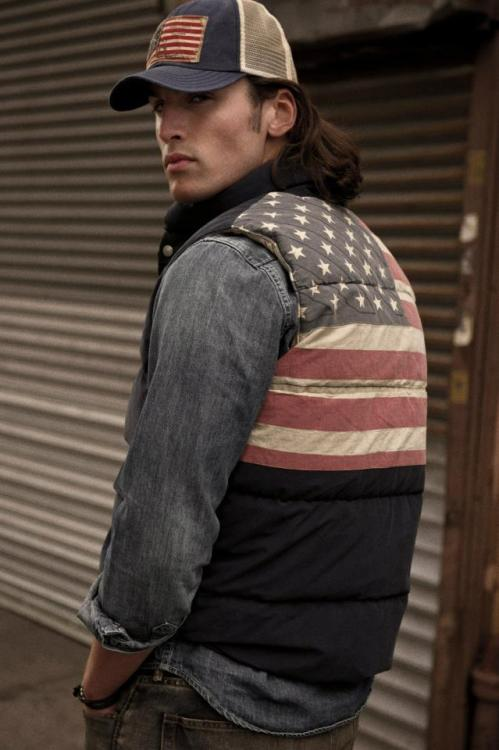 "lifewithbrandonlee:  Campaign: Ralph Lauren presents Denim & Supply - their ""new approach to denim and sportswear."" Check out the full campaign here: http://bit.ly/RJvpDQ  He could be a farmer in those clothes."