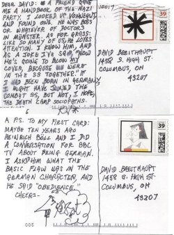 From Kurt Vonnegut to pen pal David Breithaupt.