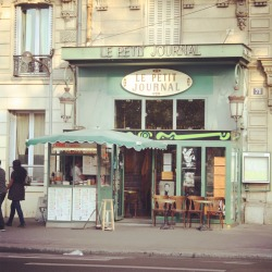 toandfrommag:  As we were walking, this looked like just another Parisian cafe. Now that I'm home I regret not stopping here for a cup of coffee.