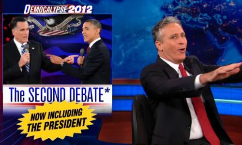 thedailyshow:  Full Episode: Barack Obama shows up for the second presidential debate, John Oliver recruits a focus group, and Nate Silver. http://on.cc.com/T2XUww  I've watched the first segment twice already and laughed my ass off TWICE.  Brilliant.