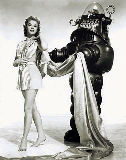 Anne Francis in a publicity shot for Forbidden Planet