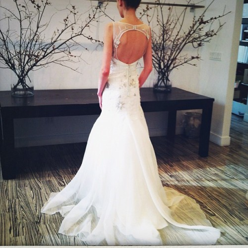 Dont you love the back on this @lela_rose gown? #bridalmarket