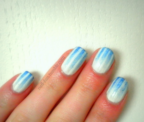 blue gradient with stripes