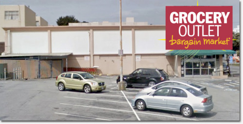 "(via Grocery Outlet to open in former Delano's location at 28th & Geary | Richmond SF Blog)  ""Grocery Outlet?"" More like ""Grocery Paycheck,"" am I right? When Grocery Outlet opens, I'm going to rock out with my Groc Out. I buy all my groceries at outlet stores, I don't want to make my jeans and shoes jealous. Hopefully they will stack alcohol like the last supermarket, because this happened there once:  Also, Delano's always played '50's music. I hope GrocOut will get with the times and play music from the '70's."