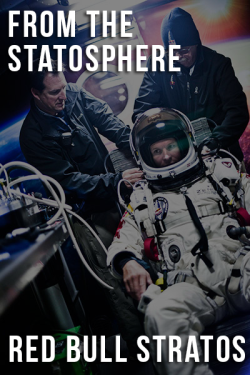 From the statosphere: Red Bull Stratos 'From the statosphere' brings you all the stats from the biggest science stories. On the 14th October, Austrian Felix Baumgartner completed the Red Bull Stratos mission. In doing so he became the first person to break the sound barrier without vehicular assistance.  2 years of planning 2 test jumps 1 mission abortion, due to adverse weather conditions 270 square-feet main parachute 27Kg complete parachute rig weight 190 degree Farenheit suite protection range 128,100 ft jump height 24 mile jump height 834 mph maximum speed reached (breaking the sound barrier) 259 seconds of free fall 17 seconds shy of his mentors free fall record