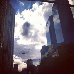 actually gorgeous in the city for once #sky #blue #nyc #columbuscircle #clouds (at Columbus Circle)
