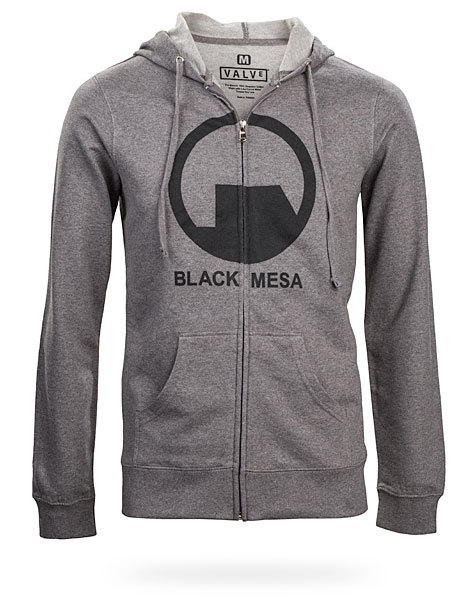 Half-Life Hoodie Keep warm this fall with this Black Mesa Hoodie from ThinkGeek ($44.99-$48.99) and pray for a Half-Life 3 to come sooner.
