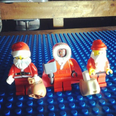 3 lego santas all in a row! #lego #minifigures #starwars #series8 #santa #christmas #darthmaul #toys #instagood #instalego #legoig (at Ramos Residence)