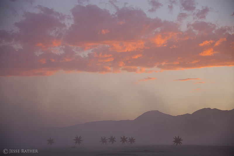 7 star sunrise | burning man ~ jesse rather photography