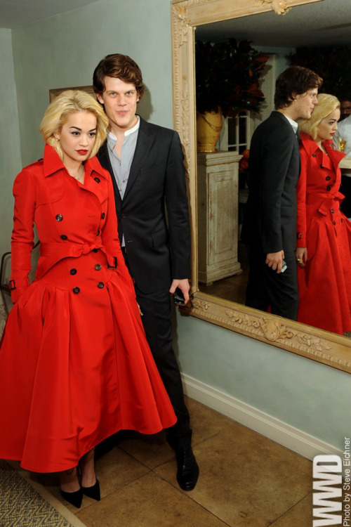 Rita Ora with Wes Gordon in his design.