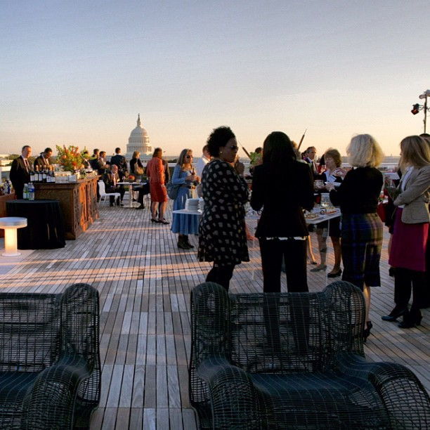The party was barely underway when many guests headed to the roof terrace to enjoy a spectacular sunset.  Mother Nature smiled on us that night.