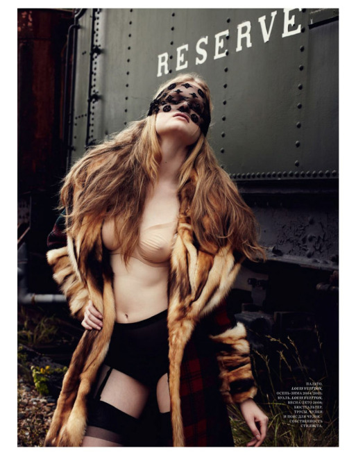 janesvanity:  Lingerie and fur… how divine. Harper's Bazaar Russia November 2012