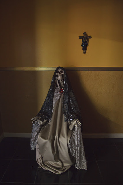 "Santa Muerte, San la Muerte and The Fascinating History of Death Personified in Latin America I took the photos you see above over a series of trips to Los Angeles to document the fascinating phenomonon of Santa Muerte, a sacred figure worshipped as part of the larger pantheon of Catholic saints in Mexico and now also, with the wave of Mexican migrants, in the United States as well. Thought to have its roots in a syncretism of the beliefs of the native Latin Americans and the colonizing Spanish Catholics, the name literally means ""Holy Death"" or ""Saint Death,"" and she—also fondly referred to as ""The Skinny Lady—tends to be worshipped by disenfranchised members of society such as criminals, prostitutes, transvestites, the very poor, and other people for whom conventional Catholicism has not provided a better or safer life.Doing some research into the matter, I recently stumbled upon Frank Graziano's Cultures of Devotion: Folk Saints of Spanish America, which offers fascinating insight into the genesis of both Santa Muerte and the very similar San La Muerte tradition, which developed independently from a similar native/Catholic syncretism in other areas of Latin America; I also would give anything to see one of the bizarre theatrical productions described below: In the Jesuit missions, the publication of many books included, in 1705, a translation of Juan Eusebio Nieremberg's De la Diferencia Entre lo Temporal y Eterno.Among the engravings in the book was one of a triumphant personified death, holding a sickle (a variation on the scythe) in one and and an hourglass in the other. Death as a skeleton also appears in another image, which was likewise copied from a European original.  These engravings document the presence of the Grim Reaper in the missions, but more important in folk culture were theatrical productions staged by the Jesuits for the Guaranís' religious instruction. The performances often included Christ's resurrection, with props of skulls and bones and with the Grim Reaper in the supporting cast for dramatization of Christ's triumph over death. Such performances contributed to fixing the personified image of death within a religious context.  Almost all the artists in Jesuit missions were Guaranís who were trained by Europeans. These indigenous carvers of saints thought of their work more religiously than artistically: ""Image-makers quite literally believed that they were making saints and gods."" This observation is particularly suggestive in the context of San La Muerte, whose traditionalal carvers were likewise creating, not representing, a supernatural power. For the Guaraní mission artists, ""The reality of things was not expressed by imitating their visual appearance, as in European art, but by capturing their essence."" The imagery, including the image of death personified, was adopted from European traditions and then invested with this ""essence."" The carvings transcend mere representation and become empowered in themselves like amulets. All of this also brings to mind the wonderful 18th century book La Portentosa Vida de la Muerte (The Astounding Life of Death); more on that here.All photos you see above are from my trips to Los Angeles to document the Santa Muerta phenomenon; for more, click here to see my complete Flickr set.  From the amazing Morbid Anatomy - be sure to check out the blog!"