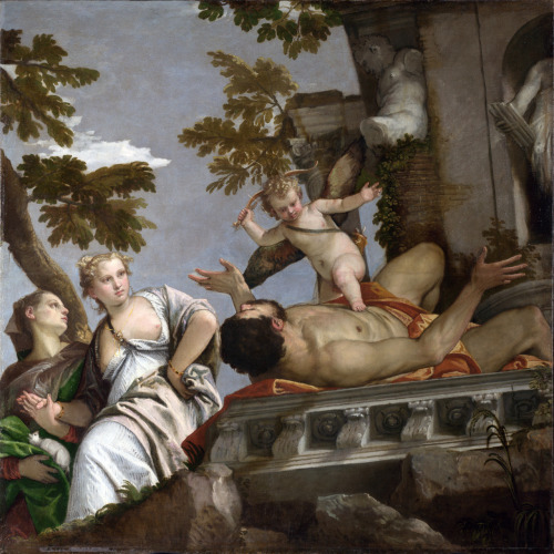 peril:  Allegory of Love: Scorn (1575) oil on canvas, National Gallery, London | artwork by Paolo Veronese