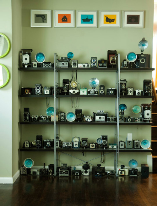 Now this is a beautiful camera collection!