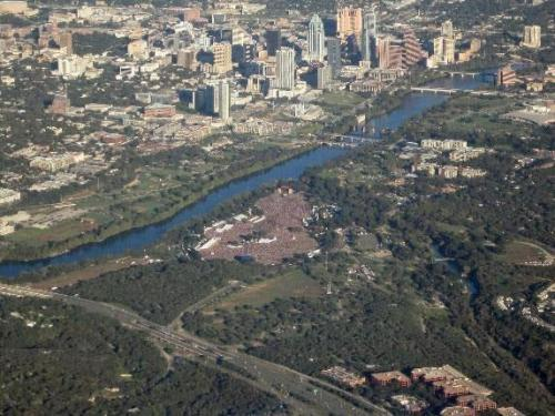 company:  blackbutshining:  heatherpattern:  birds-eye view of ACL  Austin is kind of amazing.  this is really cool although i am still glad i was not in that mass of people
