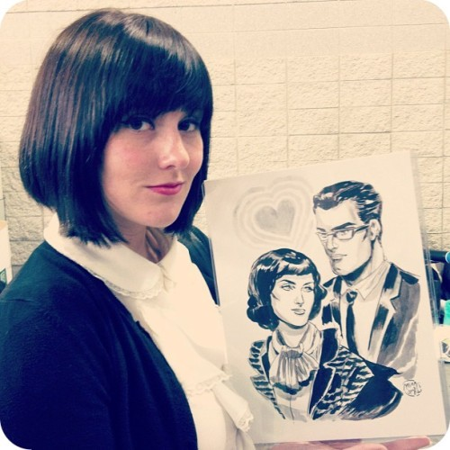 AK & her beautiful commission from Ming Doyle!