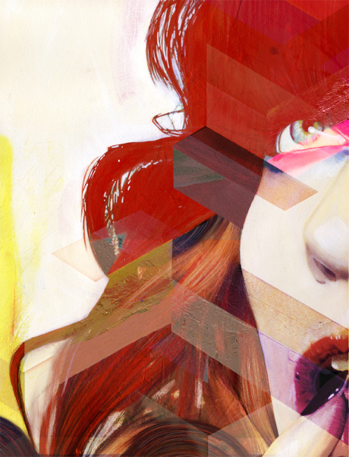 erikjonesart:  Erik Jones / Mixed Media on Rives bfk / 2012