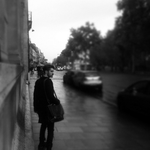 @sleepingkiwi #wet days in #paris #rain