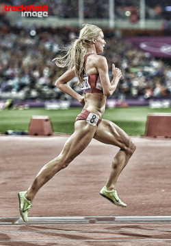 trackandfieldimage:  Emma Coburn , London 2012 Olympics , Steeplechase Photo : Jeff Cohen www.TRACKANDFIELDIMAGE.com