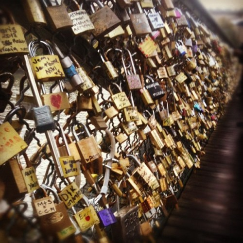 #paris #locks #love #bridge