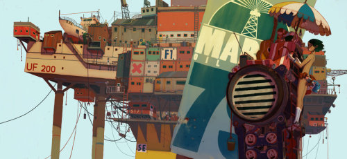 OIL RIG by ~honkfu