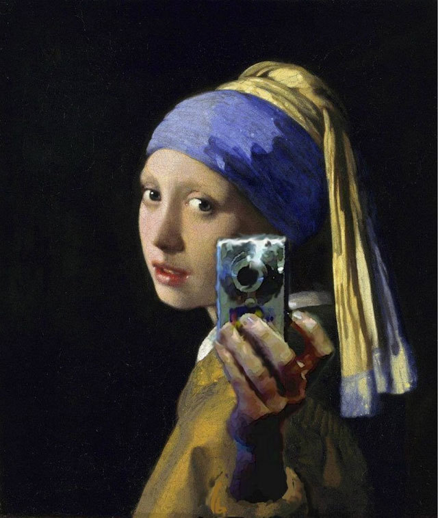 Girl with a Pearl Earring and Point-and-Shoot Camera (via Girl with a Pearl Earring and Point-and-Shoot Camera)