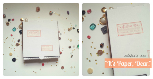 "October's ""It's Paper, Dear"" big reveal on the blog today!"