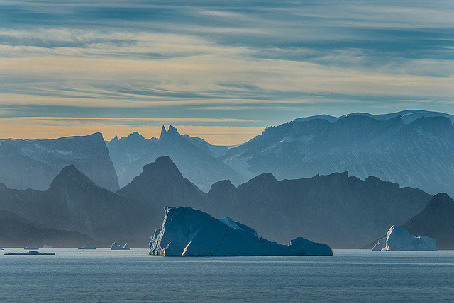 Icebergs and Mountains by janet little on Flickr.