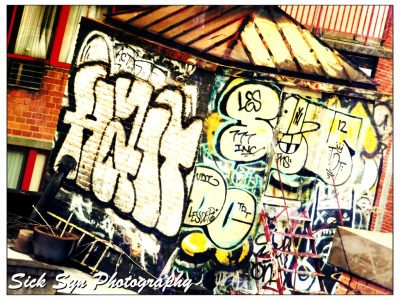 ROOF TOP GRAFFITIby ~SynfulSick Photography / Urban & Rural / City Life©2012 ~SynfulSick   ROOF TOP GRAFFITI; China Town, NYC