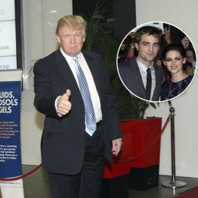 "In ""who asked you?"" news…Donald J. Trump on Robert Pattinson + Kristen Stewart:""Robert Pattinson should not take back Kristen Stewart…She cheated on him like a dog & will do it again — just watch. He can do much better!"" [via Twitter]"