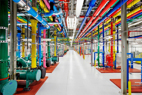 flavorpill:  Fascinating Photos Shot Inside Google's Private Data Centers  Hummina hummina.