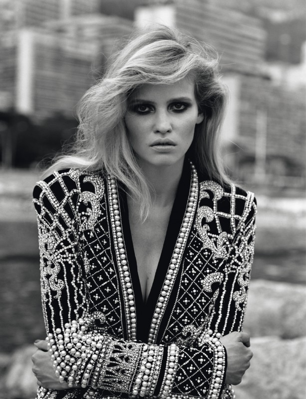 Lara Stone shot by Alasdair McLellan for Self Service issue #37.