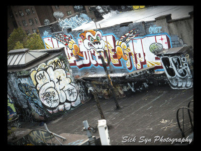 Roof Top Graffitiby ~SynfulSick Photography / Urban & Rural / City Life©2012 ~SynfulSick   Graffiti in China Town