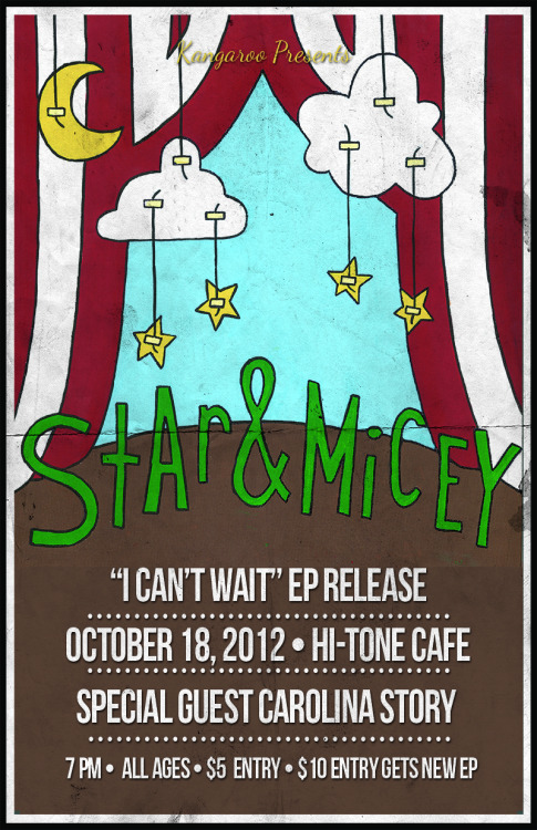 kangaroopresents:  Star & Micey EP Release October 18th, 2012  Jody Stephens will probably show up…