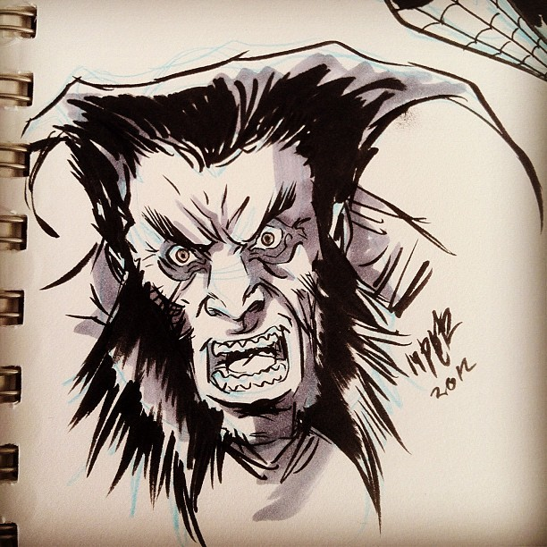 More Wolverine doodles.