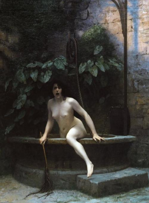 peril:  Truth Rising from her Well (1896), oil on canvas | artwork by Jean-Léon Gérôme