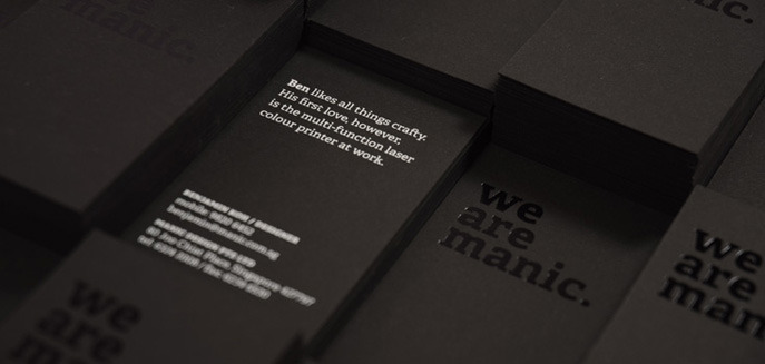 Our sleek new namecards are hotstamped and silkscreened on a smooth, heavy black card stock. Each card comes with a unique little story about us. Collect all 10 today.