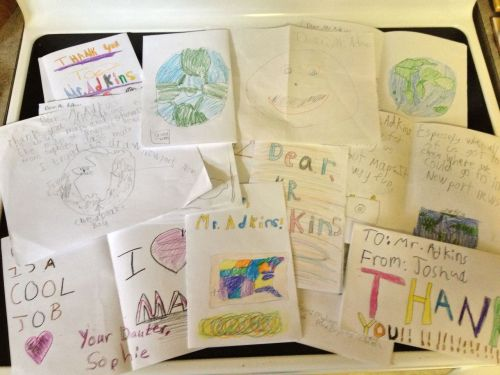 Got about 25 thank you cards from Sophie's 3rd Grade class!