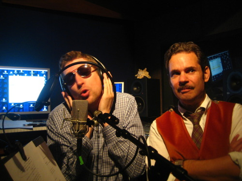 "paulftompkins:  AVAILABLE RIGHT NOW: THE POD F. TOMPKAST EPISODE 22 Up, up, and also away with The Great Undiscovered Project. ""The Dream Prisoners,"" with Matt Gourley, John Ross Bowie, Kimmy Gatewood and Patton Oswalt. Scott Aukerman SINGS! Southie? SOUTHIE?!?! SUBSCRIBE. DOWNLOAD. STITCH.  Reblogging largely for this picture"