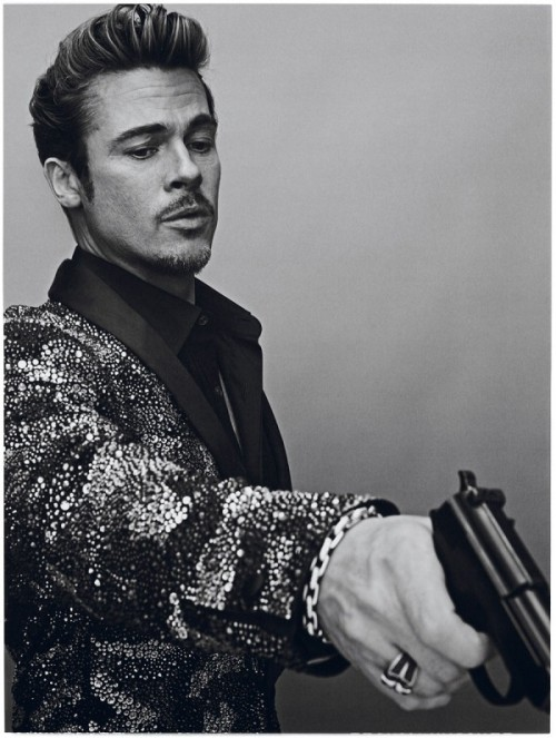 BRAD PITT BY STEVEN KLEIN FOR INTERVIEW MAGAZINE