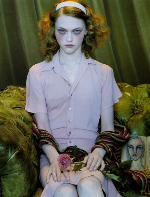 Sasha Pivovarova by Miles Aldridge for Numéro No. 63 May 2005