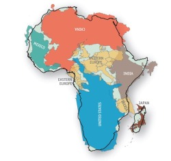 Some perspective on the size of Africa, from @theeconomist.
