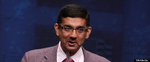 Right-wing extremist and scumbag Dinesh D'Souza has resigned in disgrace from an evangelical university after getting caught committing adultery.