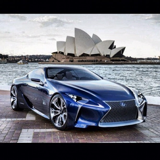 Lexus LF-LC Blue concept debuts at 2012 Sydney Auto Show. The hybrid drivetrain, dubbed Advanced Lexus Hybrid Drive is rated at 500HP. #askthecarpeople #edmundsinc #lexus #lflc #sydneyautoshow #500hp #hybrid